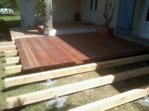 Préférence construire une terrasse extérieure en bois exotique - jpatou.com PH15