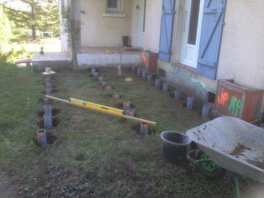 Terrasse bois plot tube pvc diverses id es - Terrasse bois sur plot pvc ...